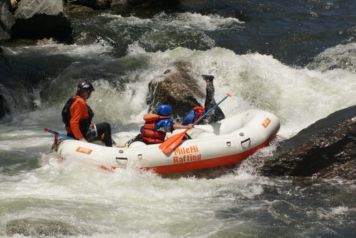 Person Falling Out Of Raft